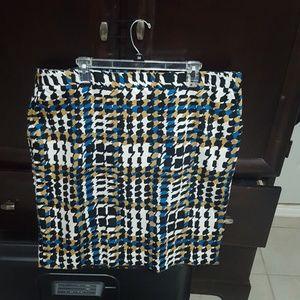 Turquoise and tan charter club skirt